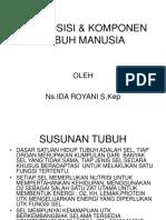 KOMPOSISI & KOMPONEN TUBUH MANUSIA.ppt