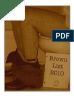 Brown List 2010
