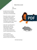 Fabula - El Raton y El Leon