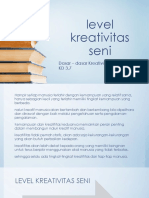 KD 3-7 Level Kreativitas Seni