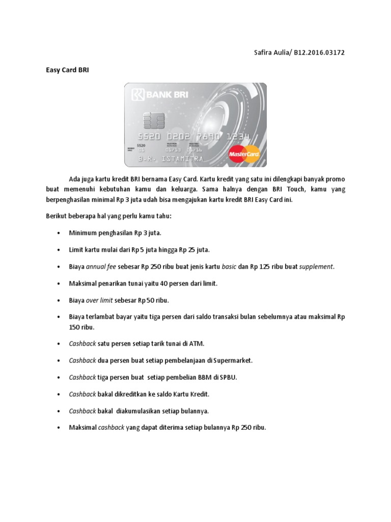 Kartu Kredit Dan Bundling