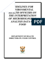 Guidelines for Environmental Health Officers on the Interpretation of Microbiological Analysis Data of Food
