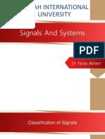 Lec04 [S&S] Signal Classification