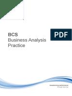 BCS Business Analysis Practice