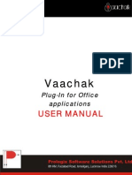 Vaachak Plug in User Manual