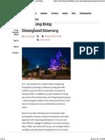 1-Day Hong Kong Disneyland Itinerary