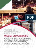 MÁSTER UNIVERSITARIO Analisis Sociocultural Del Conocimiento