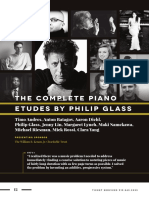 The complete piano etudes by Phillip Glass