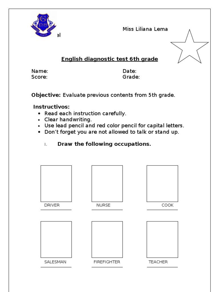 7th Grade Ela Diagnostic Test Pdf