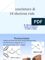 Nomenclature and 18 Electron rule