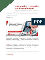 Aspectos contractuales y registrales en el contrato de arrendamiento.docx
