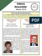 WMGS Newsletter Winter 2019
