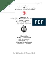 HR practices of Golden Horizon Ltd