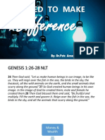 Created to Make a Difference by Pastor Arnold 10142018
