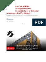 Administrativos Obligatorios Emitidos Por El Tribunal Administrativo Previsional