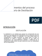 Fundamentos Del Proceso Unitario de Destilación
