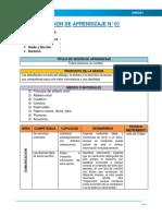 Sesiones de Aprendizaje - Unidad Didáctica N° 01