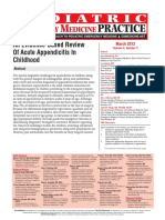 An Evidence-Based Review of Acute Appendicitis in Childhood