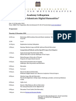 Program Academy Colloquium 13-15 December 2018