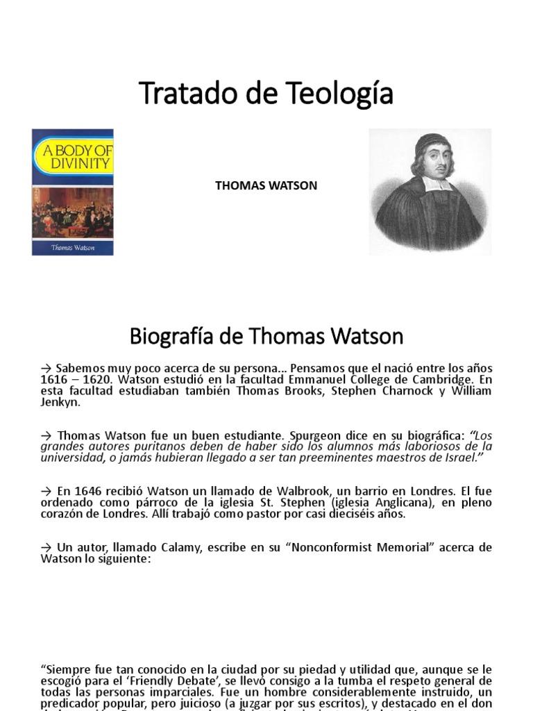 tratado de teologia thomas watson pdf gratis