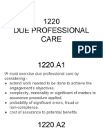 1220 Due Professional Care