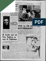 La Patrie MontréalQuébec 4 Nov 1947 Nazi Franco