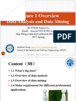 01-02 Data Analysis and Data Mining-Lect1(1)(1)