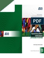 Experiencias político-institucionales y territoriales en Colombia, CdT no. 13