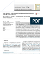 Price elasticity of the demand for sugar sweetened beverages and soft drinks in Mexico
