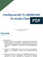 Configuración TL-WA801ND Cliente PDF