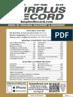 January 2019 Surplus Record Machinery Equipment Directory