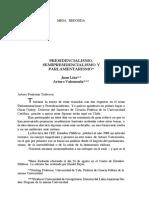 Presidencialismo Linz Valenzuela