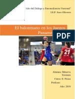 El Balonmano en Los Juegos Panamericanos