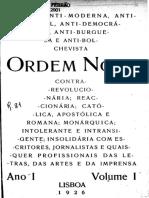 Ordem Nova Nº 01