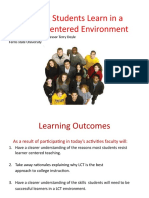 Helping Students Learn in a Learner Centered Environment October 2010