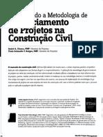 Gerenciamento de Projetos Na Contrucao Civil