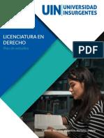 Plan de Estudios Licenciatura en Derecho UIN