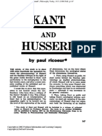 Ricoeur Kant and Husserl por Paul Ricoeur