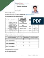 HELVETAS-BGD Applicant Information Form 55