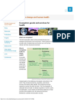 Ecosystem Goods and Services for Health