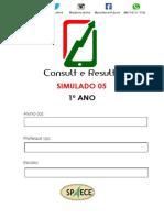 Simulado 05- 1º Ano (Blog Do Prof. Adonis).