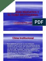 Calidad Educativa Clima Institucional