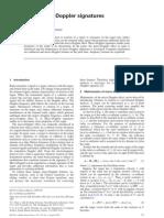 Analysis of Micro-doppler Signatures