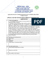 Application Form for Physical Incubation Services at NDRI
