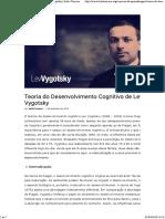 Vygotsky Sua Teoria e a Influência Na Educação