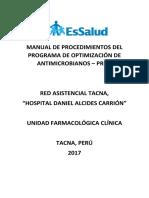 Manual de Procedimientos Del Programa de Optimización de Antimicrobianos