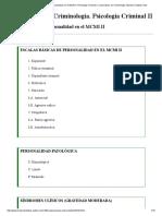 Escalas Basicas de Personalidad en El MCMI II. Psicologia Criminal II. Licenciatura en Criminología. Marisol Collazos Soto