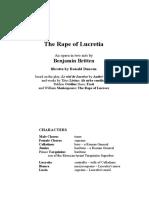 The Rape of Lucretia - Libretto