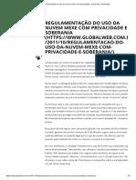 Regulamentação Do Uso Da Nuvem Mexe Com Privacidade e Soberania _ Globalweb