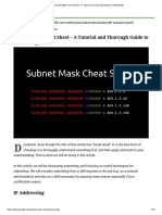 Subnet Mask Cheat Sheet - A Tutorial and Thorough Guide to Subnetting!
